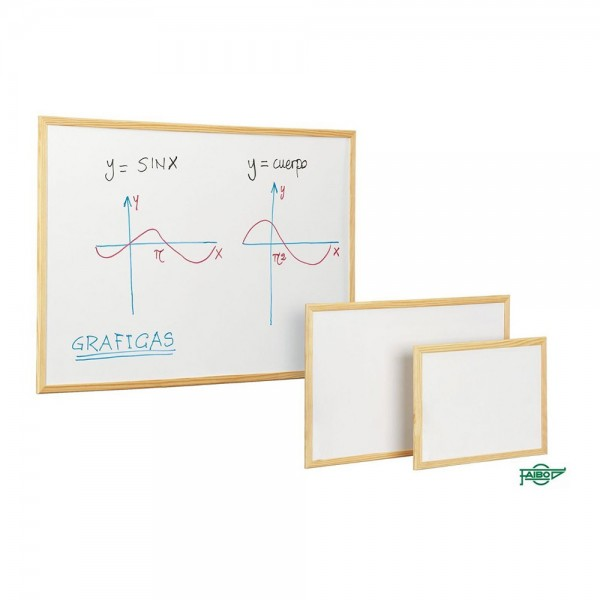 Faibo pizarra blanca económica marco pino 40x60cm