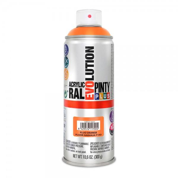 Pintura en spray pintyplus evolution 520cc  fluor.naranja f143