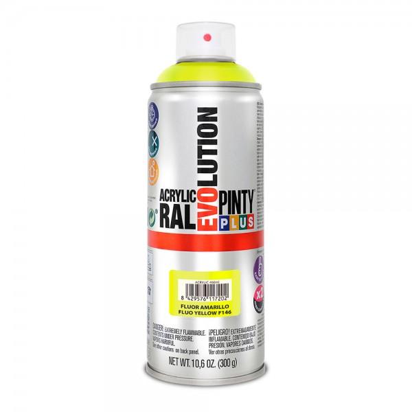Pintura en spray pintyplus evolution 520cc  fluor.amarillo f146