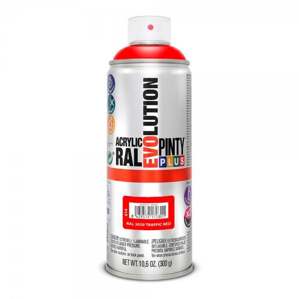 Pintura en spray pintyplus evolution 520cc ral 3020 rojo tráfico