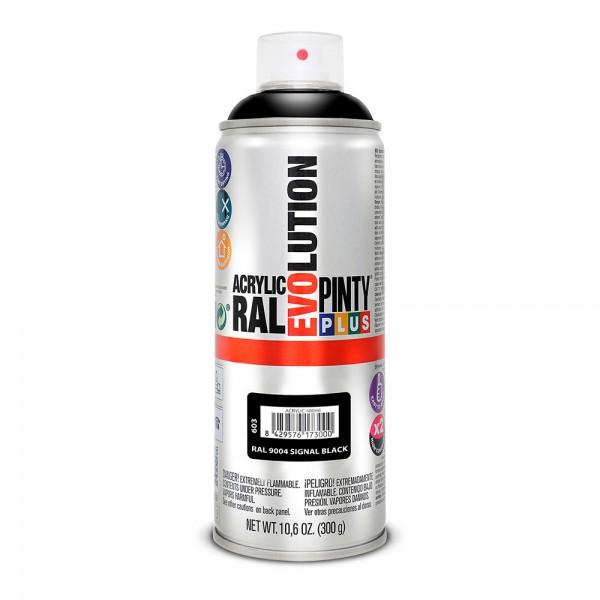 Pintura en spray pintyplus evolution 520cc ral 9004 negro señales